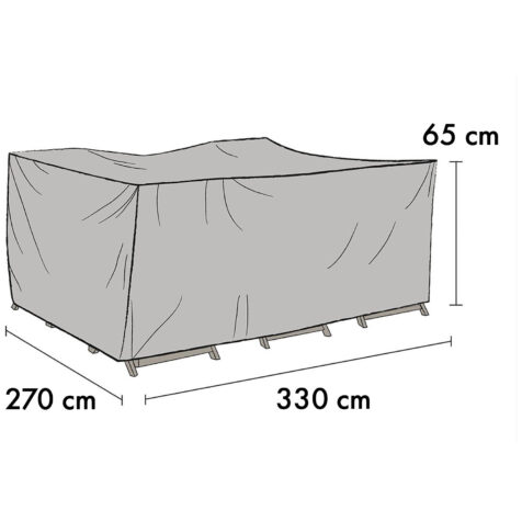 1023-7 Möbelskydd för loungrupper 330x270 cm höjd 65 cm