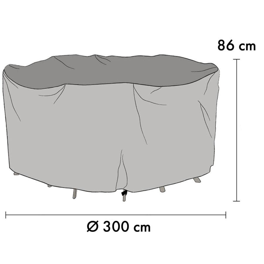 1028-7 Möbelskydd Ø300 cm höjd 86 cm