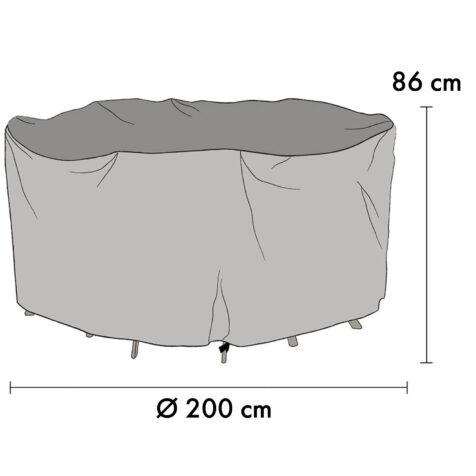 1020-7 Möbelskydd Ø200 cm höjd 86 cm