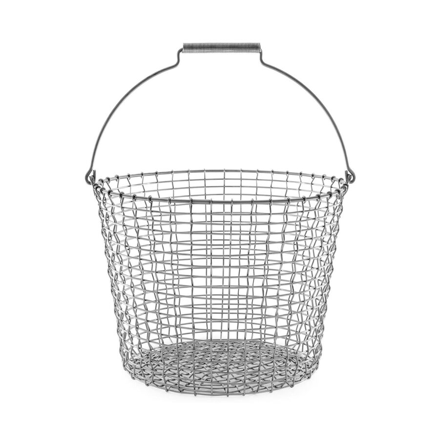 Bucket 24 korg i syrafast rostfritt stål.