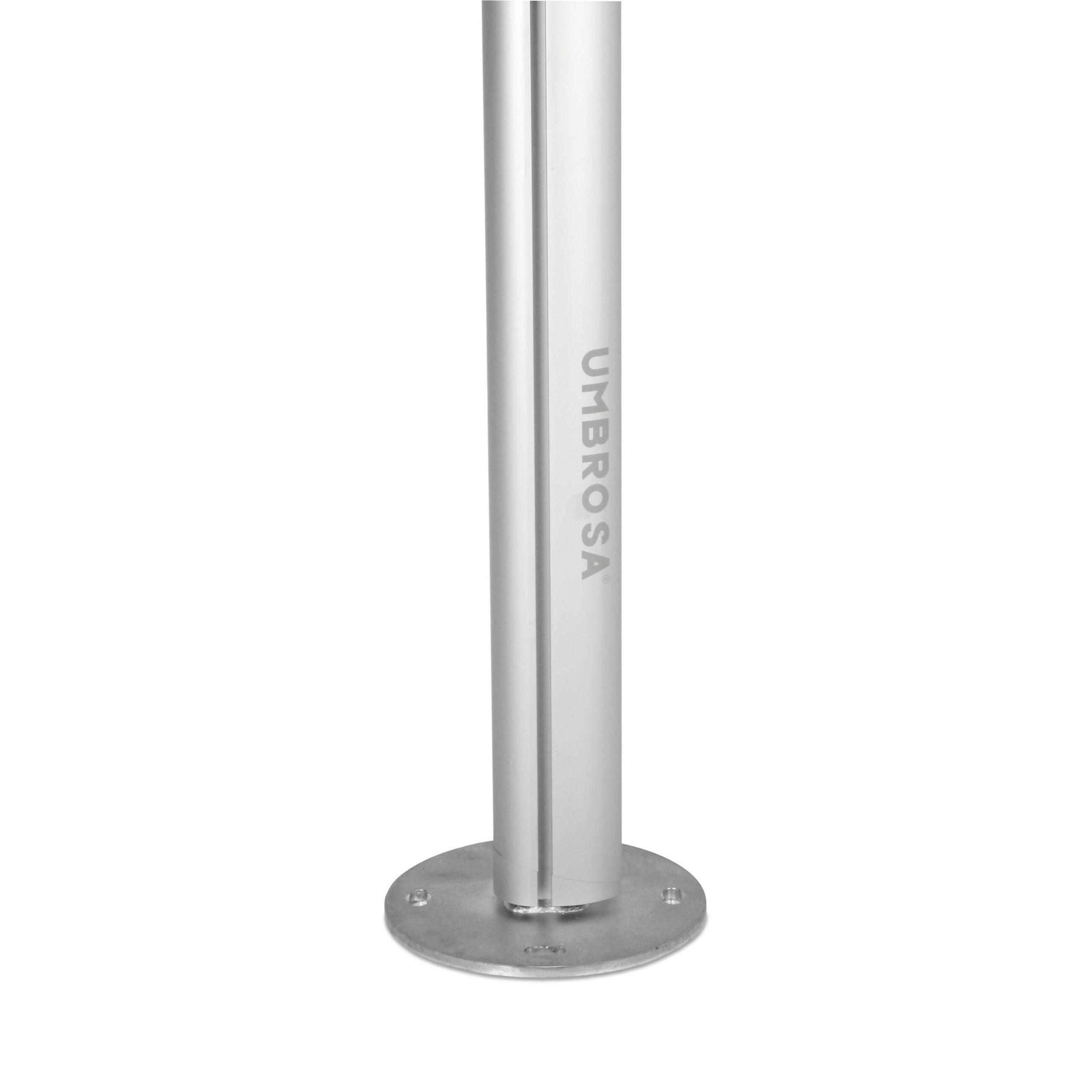 Umbrosa-stolpe monterad i 90 grader med ett fäste.