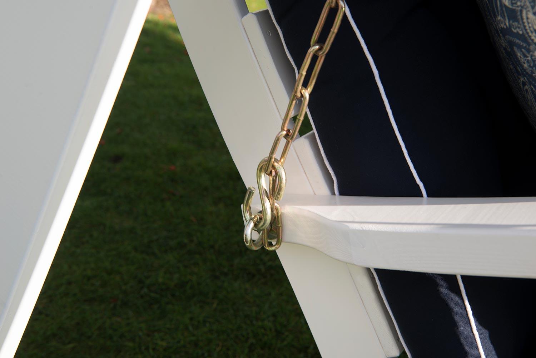 Detaljbild på Dalom hammock i vitt från Hillerstorp.