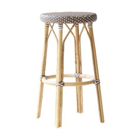 Simone barpall med sits i brunt och vitt mönster från SIka-Design.