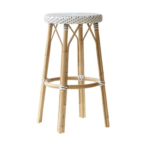 Simone barpall i rotting och vit konstrotting från Sika-Design.