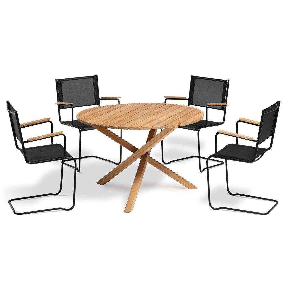 Summer fåtölj i svart med Summer matbord från Inout | Form.