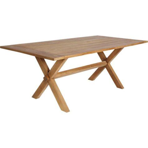 Colonial matbord i teak i storleken 200x100 cm från Sika-Design.