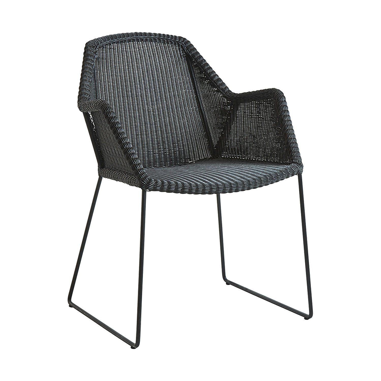 Breeze stol i svart från Cane-Line.