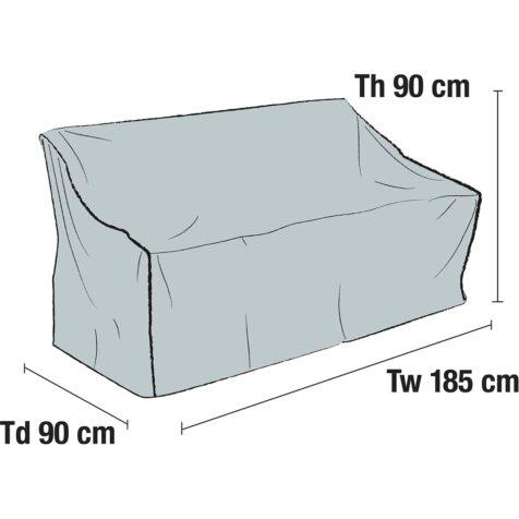 Skiss på möbelskydd 1036-7 från Brafab.
