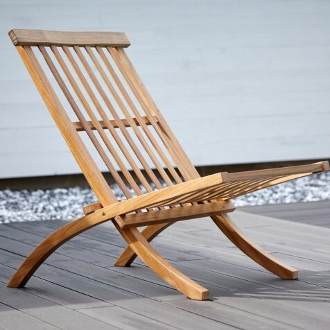 Muskö lounge stol i teak från Stockamöllan.