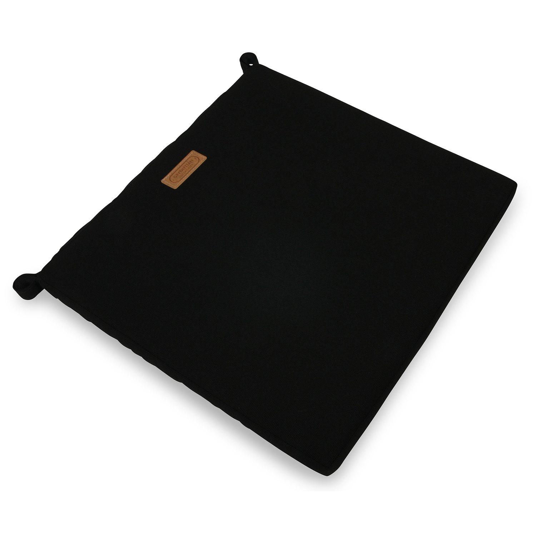 A2 sittdyna i svart sunbrella tyg från Grythyttans Stålmöbler.