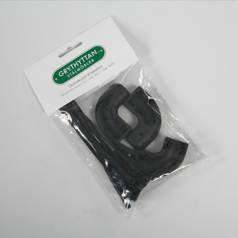 Golvskydd i svart plast från Grythyttan till A2, A3, Stol 1 och High Tech.