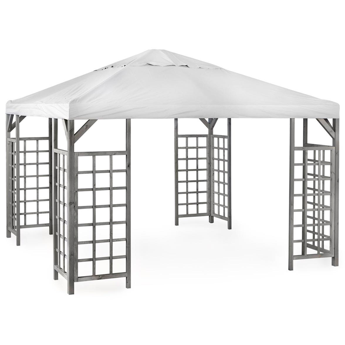 Hov paviljong 3x4 m i grå furu från Brafab.