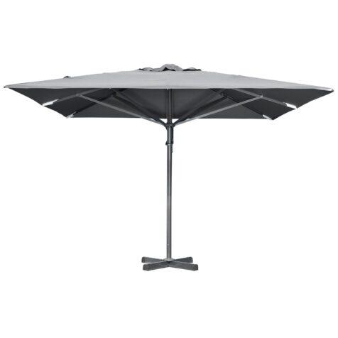 Paris parasoll i grått från Brafab med måtten 4x4 m.