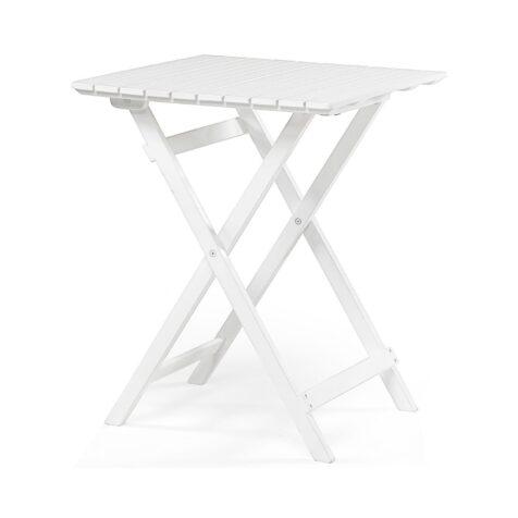 Åre bord i vitt med storleken 58x58 cm.