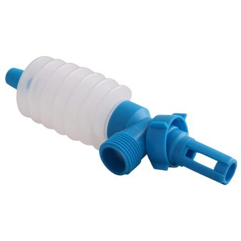 Hävertpump till tömning och påfyllning av vattensängar.