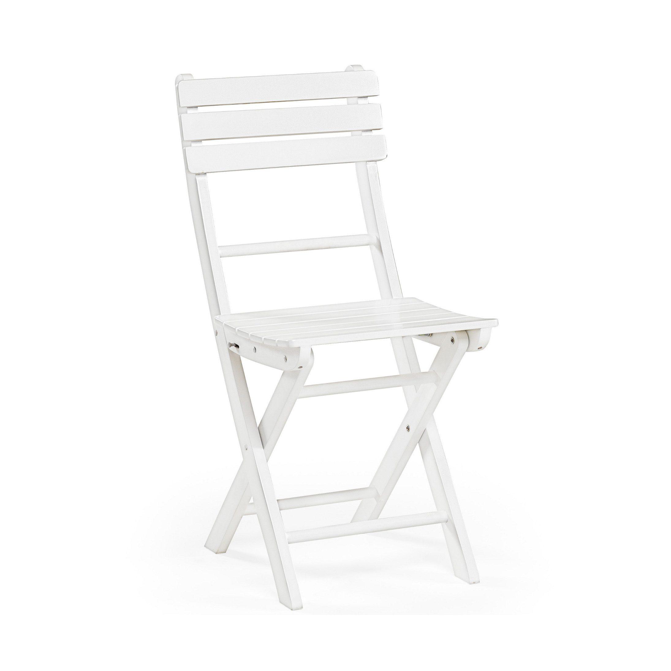 Liten klappstol i vitt från Hillerstorps Träindustri.