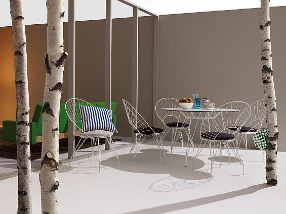 Miljöbild på Desirée cafegrupp från Swedese.
