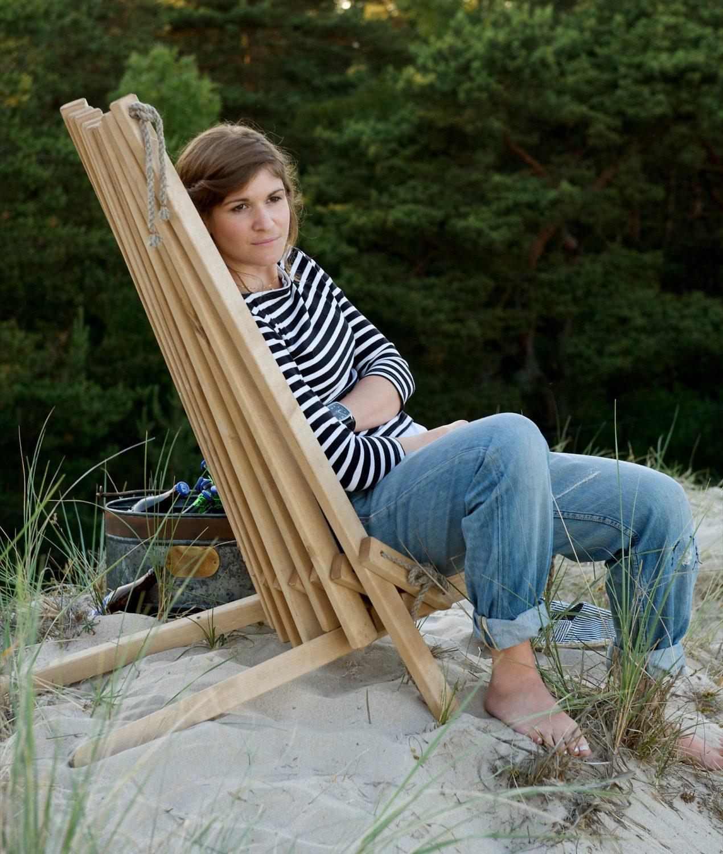 En skön vilstund i din Eco Chair från Kila Möbler.