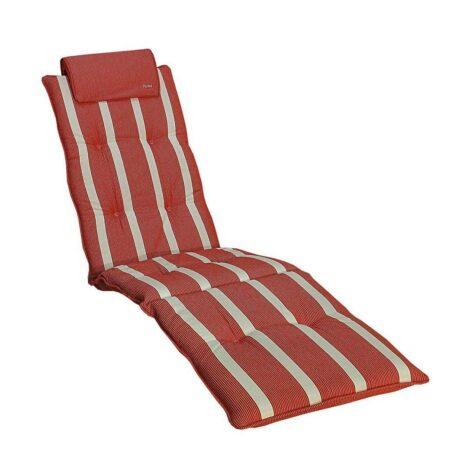 Däckstolsdyna Home 47 cm bred Classic röd dralon från Fritab.