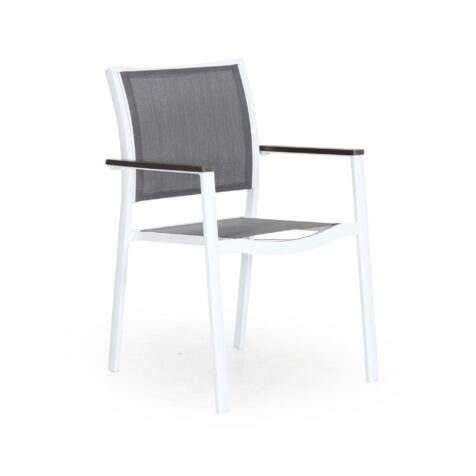 Scilla stapelstol vit/grå