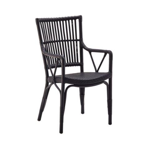 Piano karmstol, matt svart