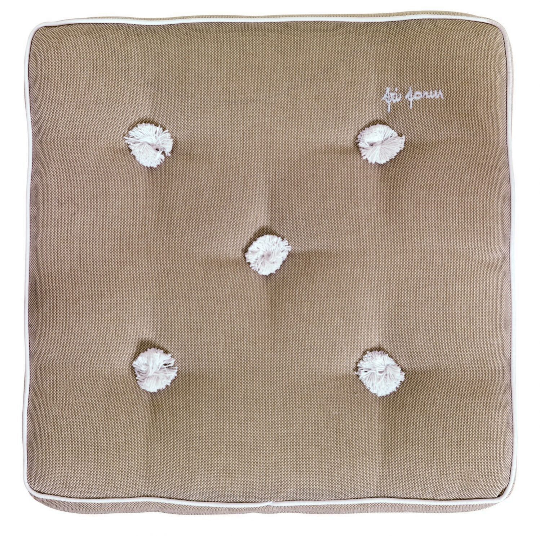 Stolsdyna, 42x42 cm, dralon, beige