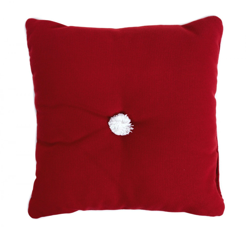 Prydnadskudde 30x30 cm, dralon, röd