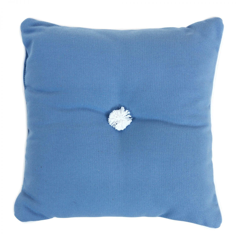 Prydnadskudde 30x30 cm, dralon, ljusblå