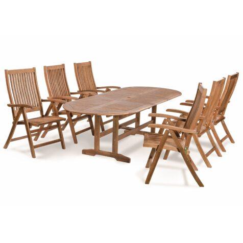 Everton matgrupp med 6 positionsstolar och ett ovalt bord.