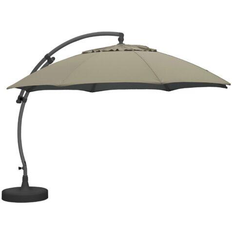 Easy Sun parasoll med antracitgrått stativ och beige duk från Brafab.
