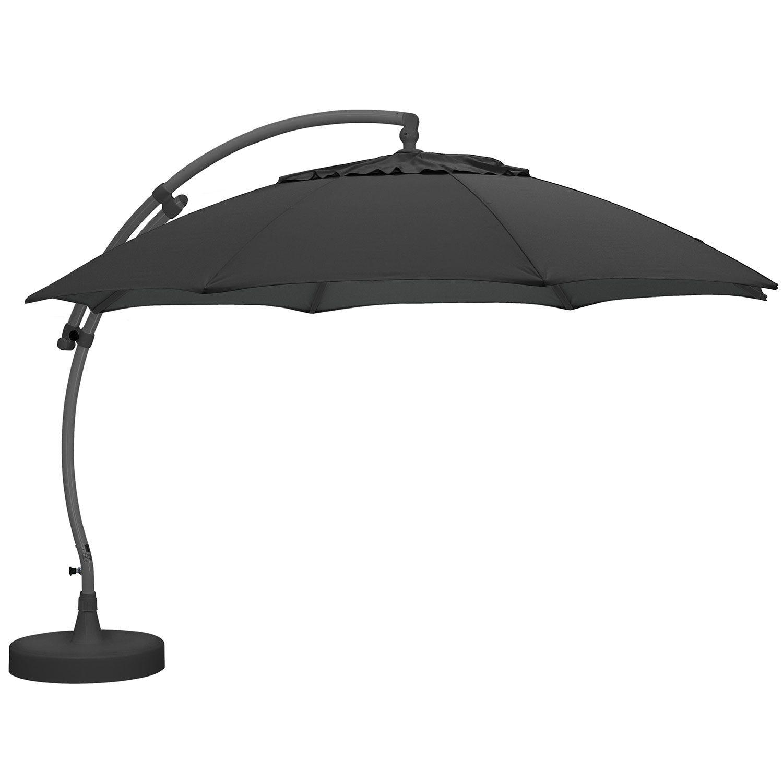 Easy Sun hängparasoll med antracitstativ och antracitfärgad duk från Brafab.
