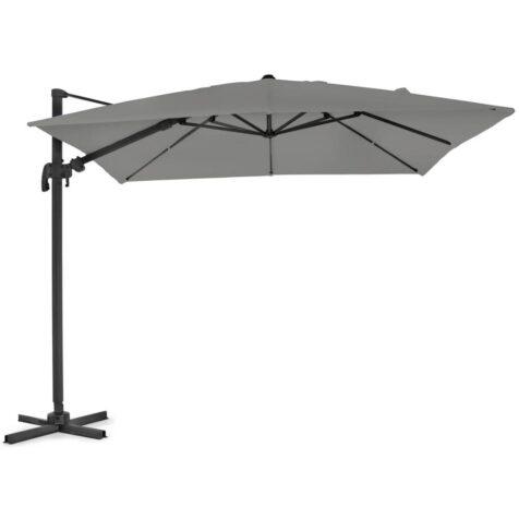 Linz parasoll i grått med storleken 3x3 m.