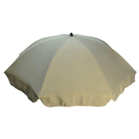 Grått parasoll i Dralon från Fritab