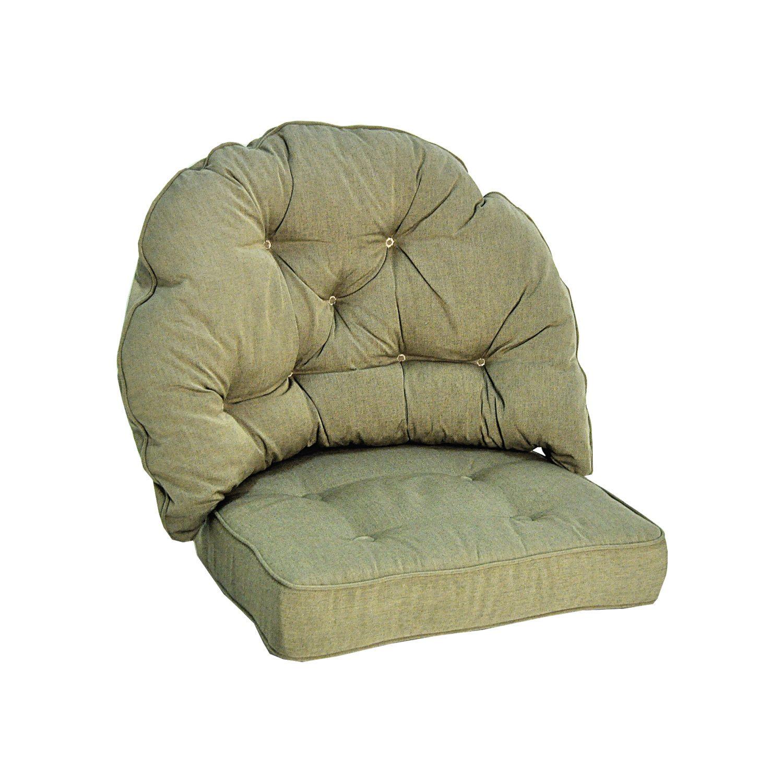 Rygg och sittdyna i beige dralon från Fritab.