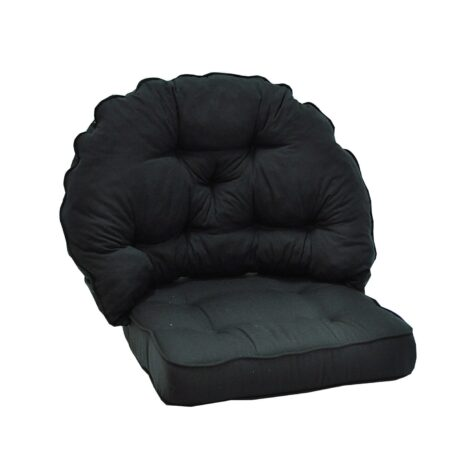 Sitt och rygg dyna i svart dralon från Fritab.