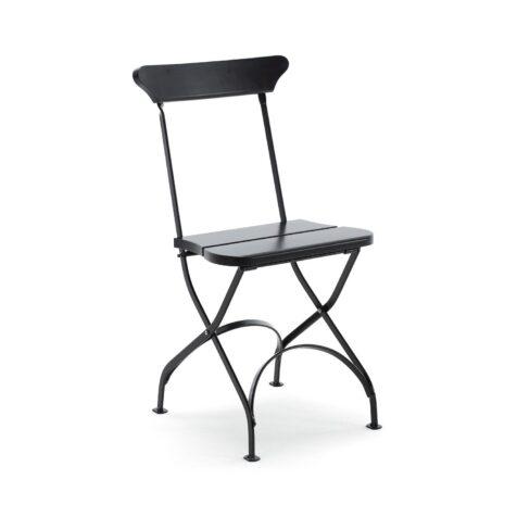 Classic stol no 2 från Byarums Bruk i svartlackad furu med svart stativ.
