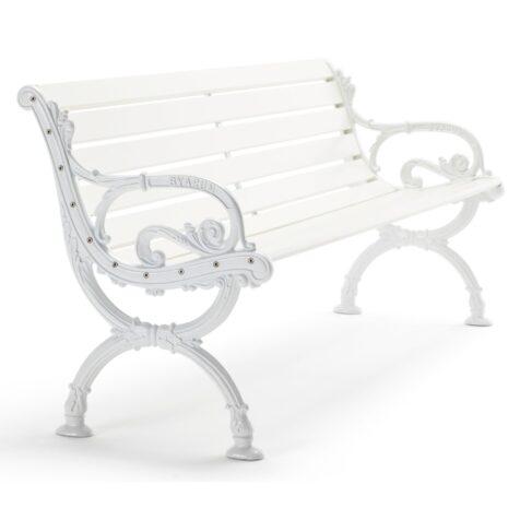 Byarum soffa i vitlackad furu och aluminium från Byarums Bruk.