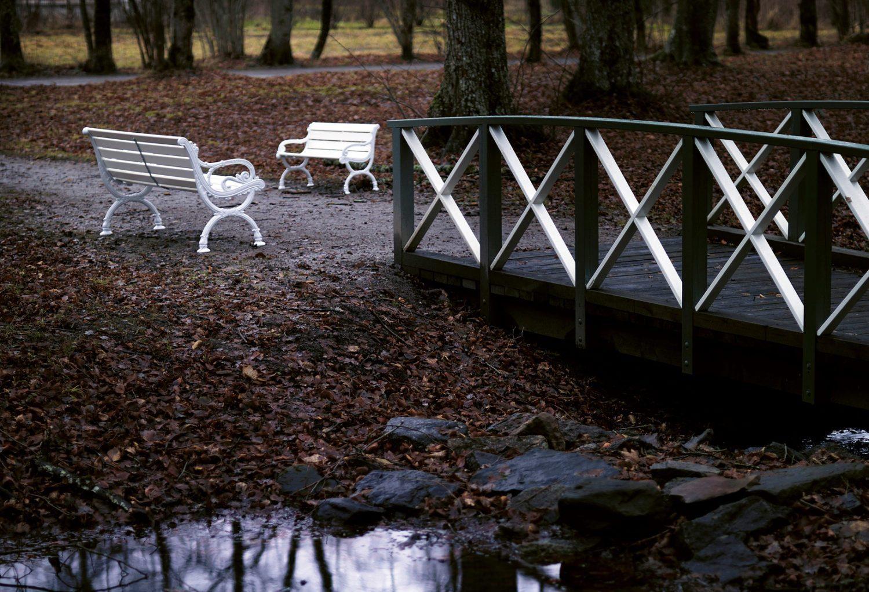 Miljöbild på Byarum soffa i vitt från Byarums Bruk.