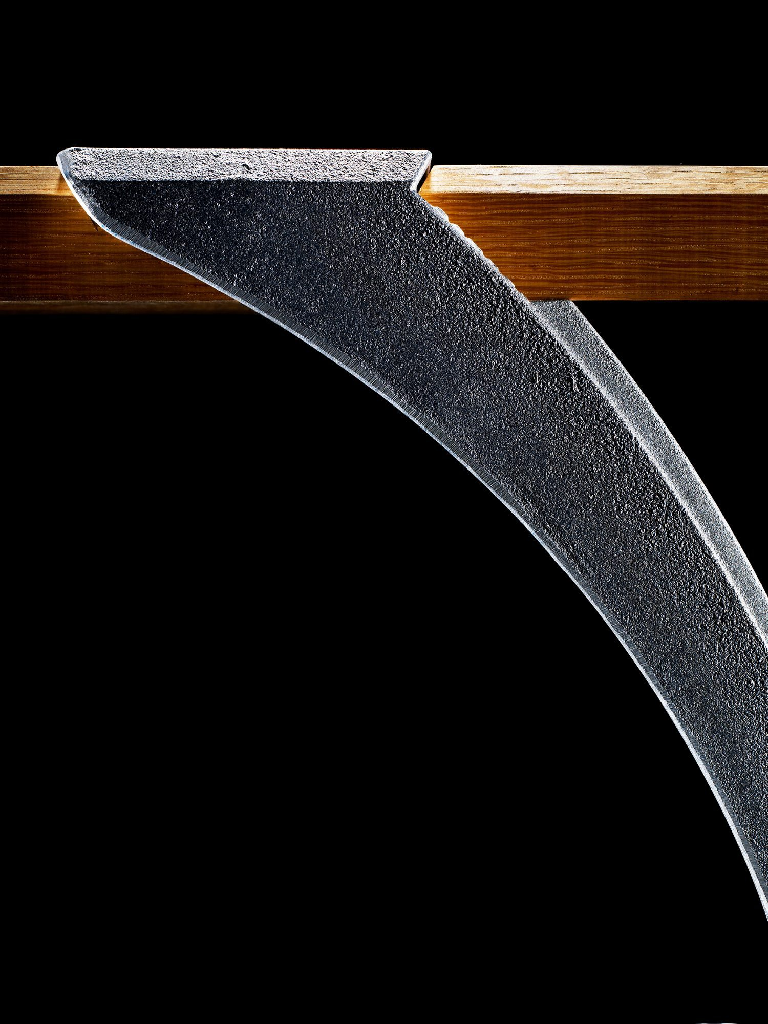 Detaljbild på Haga bänk från Byarums Bruk.