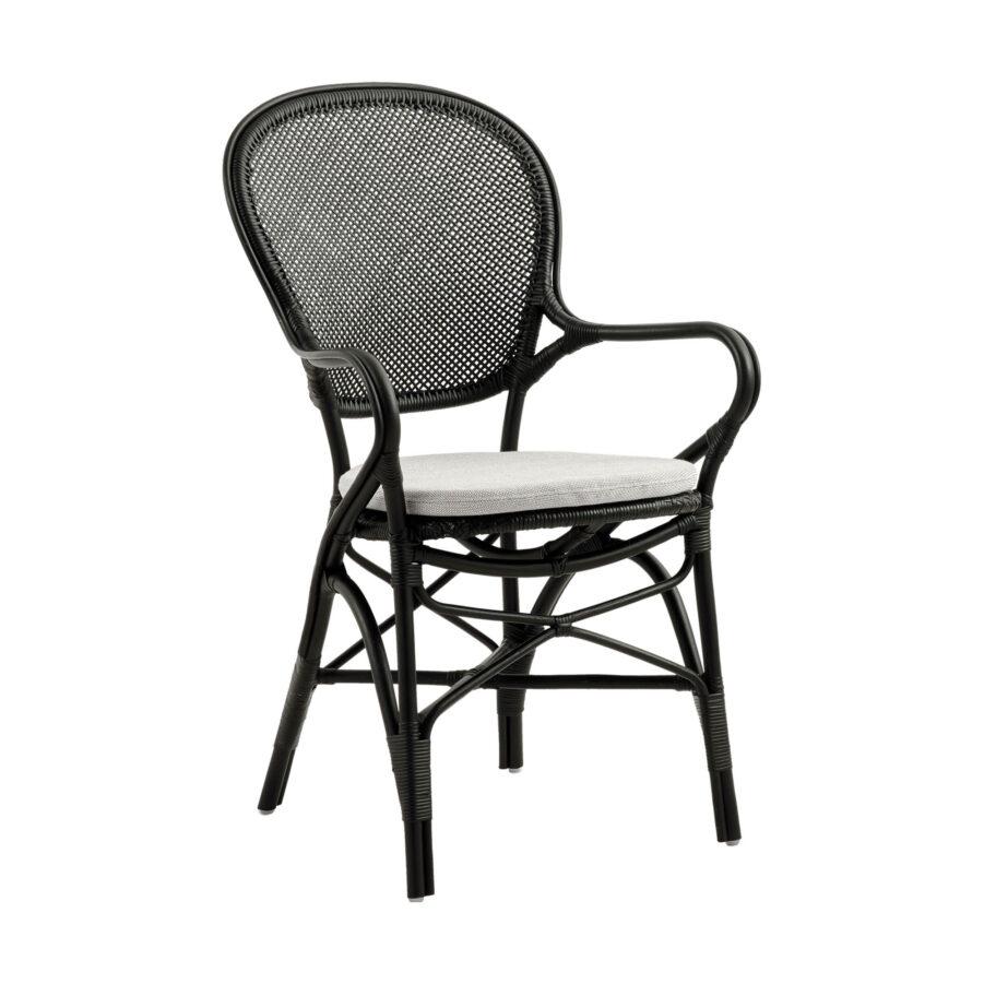 Rossini karmstol i färgen svart med sittdyna..