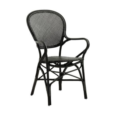 Rossini karmstol i färgen svart.