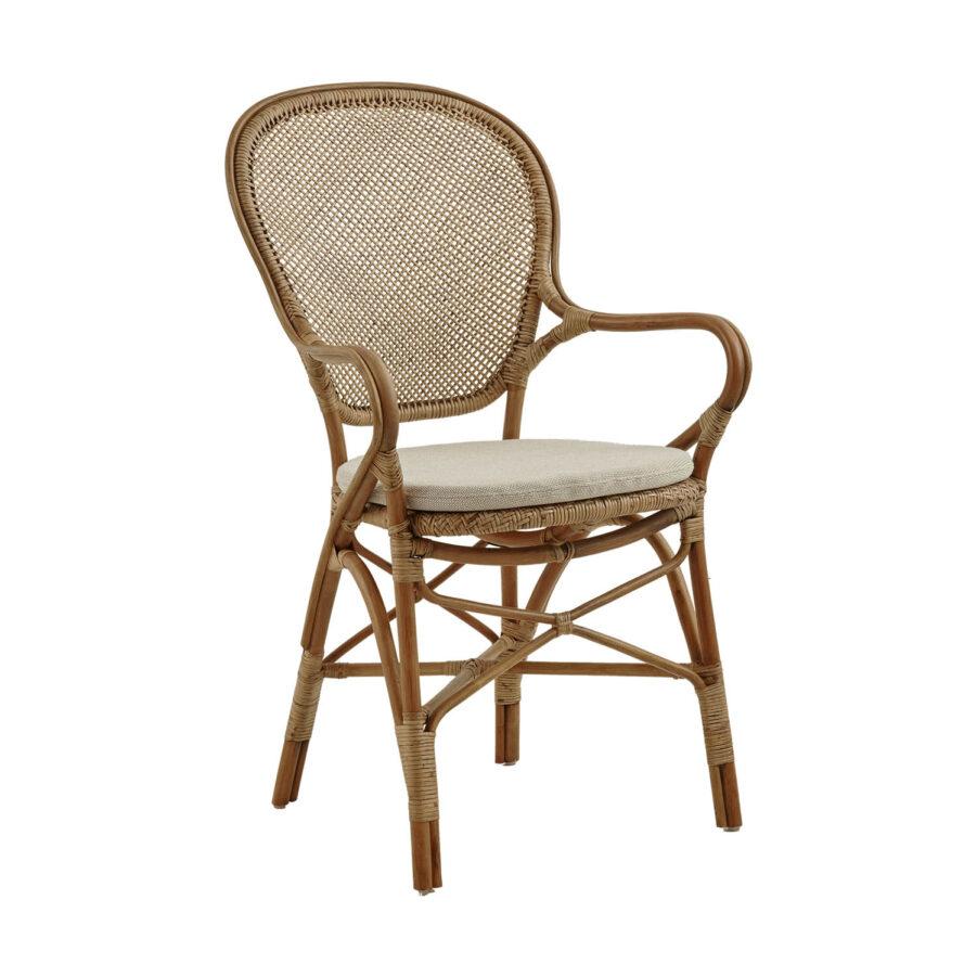 Rossini karmstol i färgen antik med sittdyna.