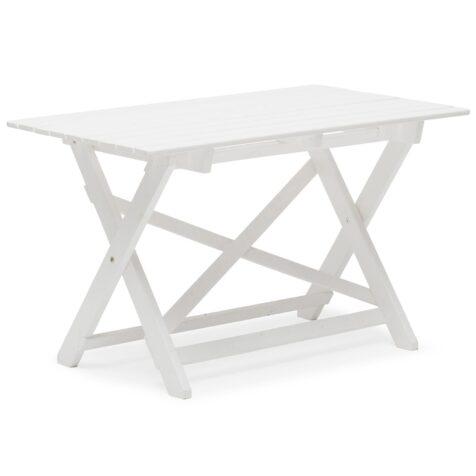 Torpet bord i vitlaserad furu.