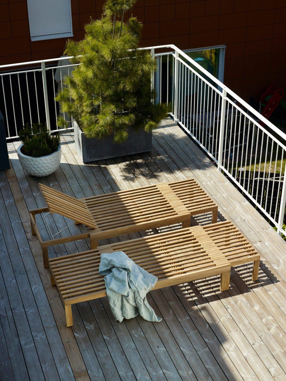 Miljöbild av Riviera solsäng i teak