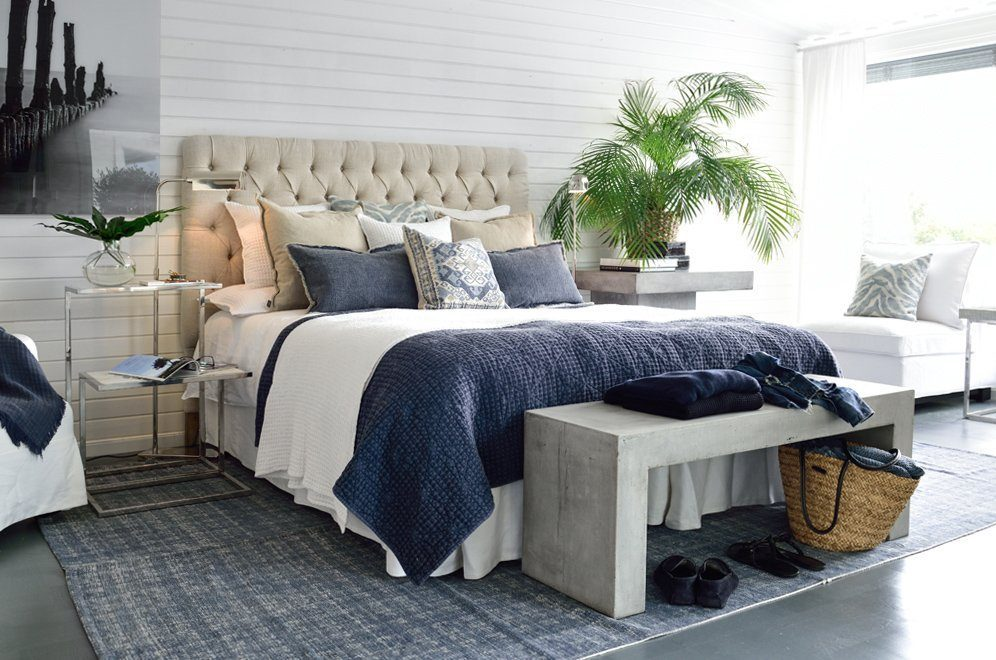 Miljöbild på Londoon sänggavel från Artwood.