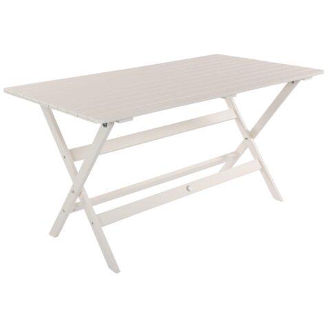 Slite matbord i täcklaserad furu med måtten 120x80 cm.