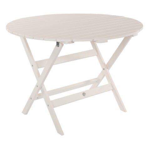 Slite matbord i täcklaserad furu med måtten Ø 101 cm.