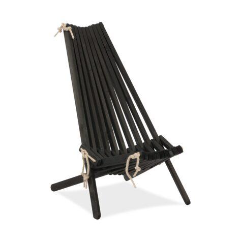 Ribbon vilstol i svartlaserad furu.