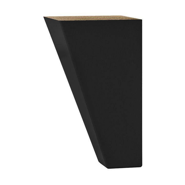 Svängda träben i svartlack från Hilding, 12 cm.