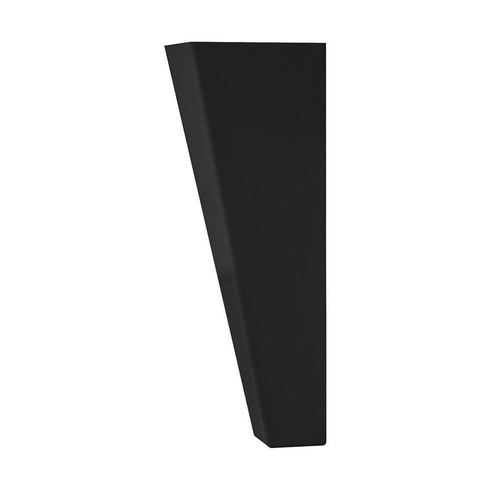 Svängda träben i svartlack från Hilding, 20 cm.